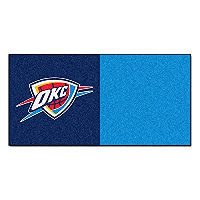 FANMATS NBA Oklahoma City Thunder Nylon Face Team Carpet Tiles
