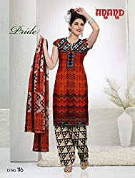 Anand Prints Women's Cotton Unstitched Dress Material (Dno116_MultiColored)