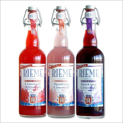 French Sparkling Lemonades - Set of 3 Bottles (Gourmet,Rieme,Gourmet Food,Beverages,Soda)