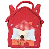 Tuc Tuc Red Soft Velour Kids Travel Backpack. Toddlers Preschool Backpack. Koala Collection. 10
