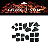 Gas Fire Replacement Coals 5 Small 5 Medium 5 Large 5 Triangle IN...