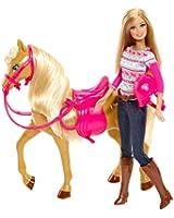 Barbie - BJF78 - Poupée - Barbie Et Son Cheval
