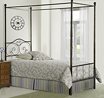 Wrought iron four posted bed collection REBECA.