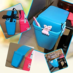 Blue Soft Silicon DIY Hairdressing Tools Suckers Storage Pouch for Salon Home