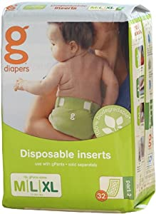 Gdiapers Flushable Refills Medium 32 Counts