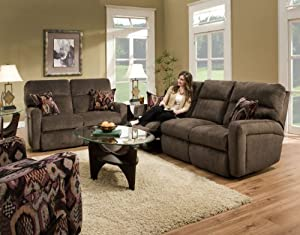 Southern Motion Savannah 3 Pc Dual Reclining Sofa W 2 Pillows Loveseat W 2