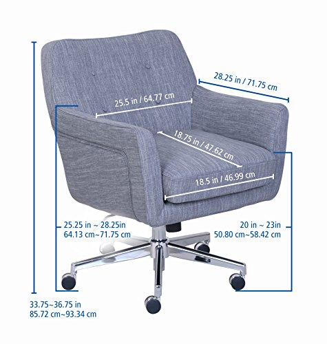 "Serta ""Ashland"" Winter River Gray Home Office Chair 5"