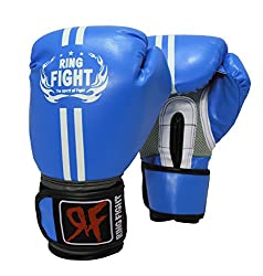 Ring Fight Pro Boxing gloves(Blue)
