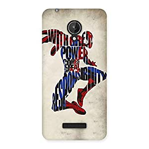 Cute Power And Responsibility Multicolor Back Case Cover for Micromax Canvas Spark Q380