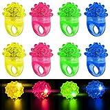 SHINA 12 piezas multicolores Anillo de LED para estilo Bumpy Jelly para Fiestas Disfraces Raves Regalos Bolsos (Tipo 1)