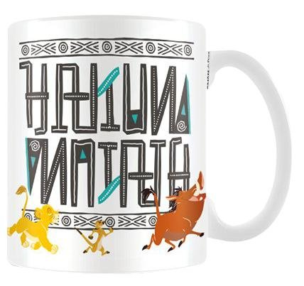 """Il re leone """"Hakuna Matata Tazza di ceramica, multicolore"""