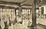 Dining Room, Ye Olde Hostel Of God Begot Winchester, England Original Vintage Postcard