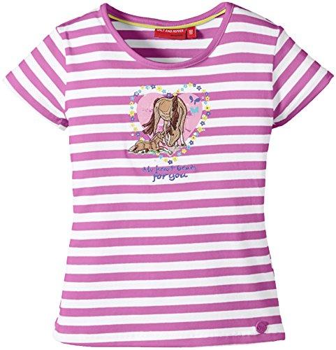 SALT AND PEPPER Girl's Short Sleeve T-Shirt -  Purple - Violett (crocus 835) - 4 Years