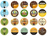 Crazy Cups Rise and Shine Caffiene and Decaf K-Cup Portion Packs for Keurig Brewers Sampler Pack, 20 Count