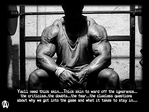 Bodybuilding Fitness Motivation Motivational Fabric Cloth Rolled Wall Poster Print -- Size: (17