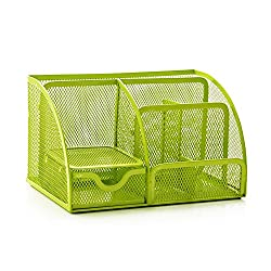HITOP Metal Mesh Design Desk Organizer Multifunctional School Home Office Supply with Drawer from HITOP