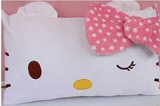 Hello Kitty Face Soft Pillowcase Pink
