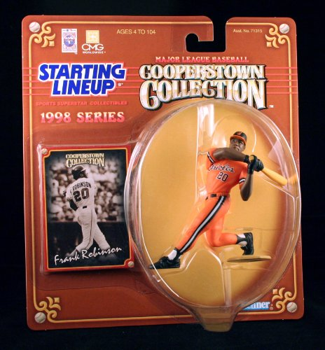 FRANK ROBINSON / BALTIMORE ORIOLES 1998 MLB Cooperstown Collection Starting Lineup Action Figure & Exclusive Trading Card