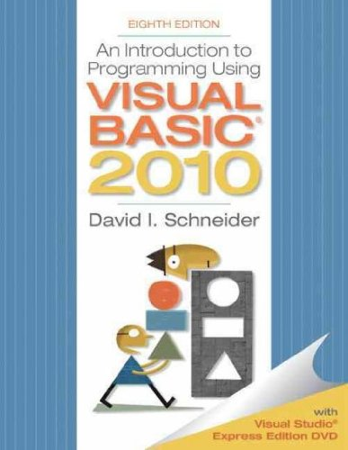 An Introduction To Programming Using Visual Basic