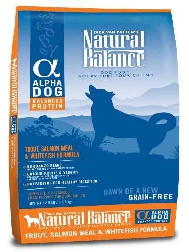 Natural Balance Alpha Grain-Free Trout, Salmon Meal, and Whitefish Formula for Dogs, 12-1/2-Pound Bag