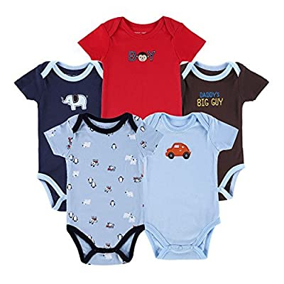 Mother Nest Baby Boys Girls Bodysuits Onesies 100% Cotton 0-12 Months 5 Pack by Mother Nest that we recomend individually.