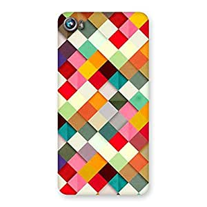 Gorgeous ColorFull Ribbons Print Back Case Cover for Micromax Canvas Fire 4 A107