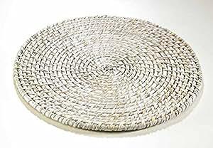 Compositeur inférieur de 30 cm de diapo White - wash Rattan