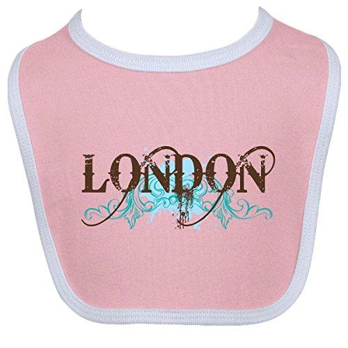 Inktastic Baby Boysâ€Tm London Country Grunge Shirts Baby Bib One Size Pink/White front-672365