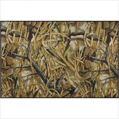 "Realtree Wetlands Solid Camo Rug Size: 3'10"" x 5'4"""