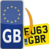 Euro GB Motorbike Motorcycle Number Plate adhesive vinyl sticker Europe legal