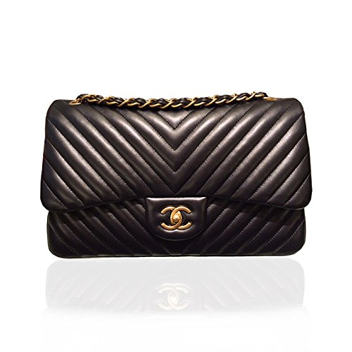 [CHANEL] 2015SS Lambskin Chevron Quilting Classic Flap Bag