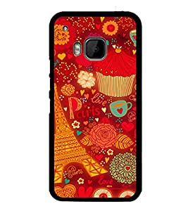 printtech Paris Chocolate Gift Back Case Cover for HTC One M9::HTC M9