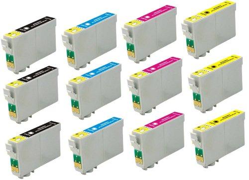 Virtual Outlet ® 12 Pack Remanufactured Inkjet Cartridges for Epson #200 #200XL T200 T200XL, T200XL120 T200XL220 T200XL320 T200XL420 Compatible with Epson WorkForce WF-2520, WorkForce WF-2530, WorkForce WF-2540, Expression XP-200 Small-in-One, Expression XP-300 Small-in-One, Expression XP-400 Small-in-One, Expression XP-410 Small-in-One, Expression XP-310 Small-in-One (3 Black, 3 Cyan, 3 Magenta, 3 Yellow)