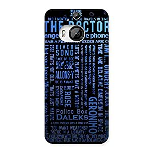 Ajay Enterprises Blue Doc Angel Back Case Cover for HTC One M9 Plus