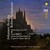 Schumann: Missa Sacra; Brahms: Kyrie; Missa Canonica; Fugue for Organpar Schumann Robert;Brahms...