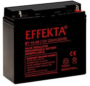 Effekta AGM Akku Batterie Typ BT 12-20 12V 20Ah Flachpol M5 by EFFEKTA