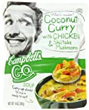 Campbell's Go Soup, Coconut Curry with Chicken & Shitake Mushrooms, 14-Ounce Microwavable Pouch (Pack of 8)