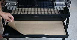 Bird Cage Liners - Medium Size Cages - Pick-Your-Size - 100 Count - 60 Pound Paper - 15.75 x 21.25