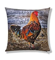 Cockerel Print Cushion