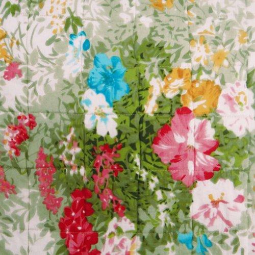 Algodón blanco edredón del bebé Decoración Floral Cuna Patrón Tamaño Reverssible Colcha Gudri India 51 X 40 pulgadas;
