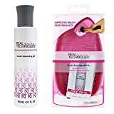 Real Techniques Brush Cleansing Palette with cleansing gel brush cleaner Set (Color: Pink)