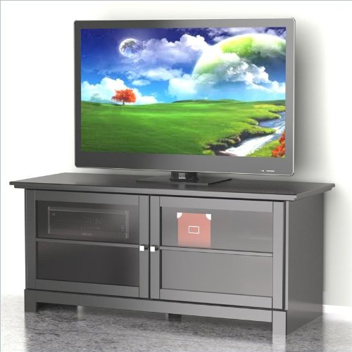 Nexera 101606 Pinnacle 2-Door TV Stand, 56-Inch, Black photo B00A0I0FIE.jpg