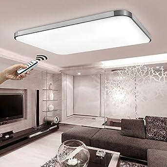 stylehome led energiespar deckenlampe wandlampe 90w helligkeit dimmbar mit fernbedienung weiss. Black Bedroom Furniture Sets. Home Design Ideas