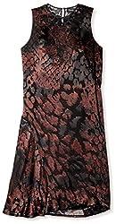 Pringle of Scotland Women's Burnout Sleeveless Dress, Deep Ruby/Black, 10