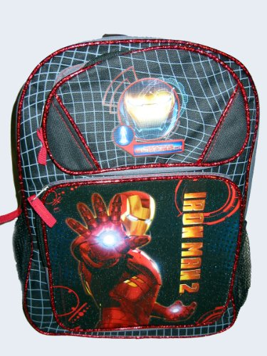 Marvel Iron Man 2 Cordura School Backpack w/ Side Pockets (Large)