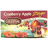 Celestial Seasonings Herb Tea, Cranberry Apple Zinger, 20-Count Tea Bags (Pack of 6) ~ Celestial Seasonings