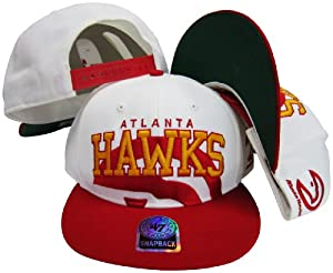 Atlanta Hawks Two Tone Big Logo Plastic Snapback Adjustable Plastic Snap Back Hat Cap by Twins
