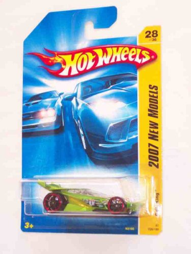 2007 New Models -#28 Drift King Green #2007-28 Collectible Collector Car Mattel Hot Wheels
