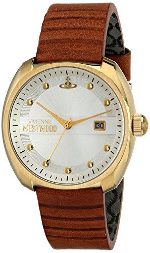 Vivienne Westwood VV080SLTN - Reloj analógico de cuarzo para hombre, correa de cuero color marrón