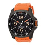 Tommy Hilfiger Men's 1790709 Sport Black Ion Plated Case with Silicon Strap Watch